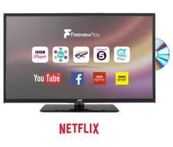 """JVC LT-24C685 24"""" Smart LED TV with Built-in DVD Player"""