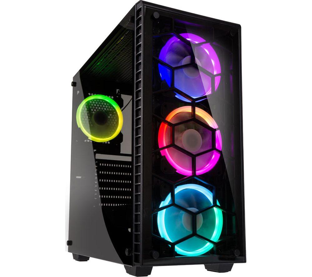 KOLINK Observatory RGB E-ATX Mid-Tower PC Case - Black, Black