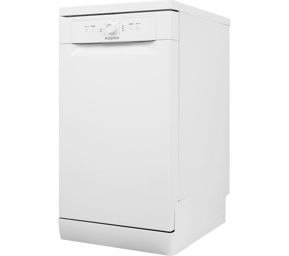 HOTPOINT HSFE 1B19 UK Slimline Dishwasher - White, White