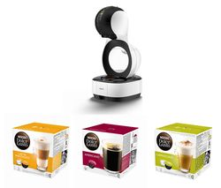 DOLCE GUSTO by Krups Lumio KP130140 Coffee Machine & Pod Bundle - Macchiato, Americano & Cappuccino