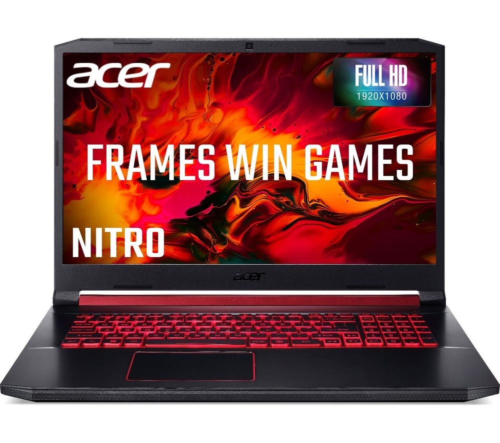 "Image of ACER Nitro 5 AN517-51 17.3"" Gaming Laptop - Intelu0026reg Coreu0026trade i5, GTX 1050, 1 TB HDD & 128 GB SSD"