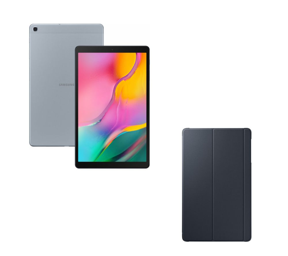 "SAMSUNG Galaxy Tab A 10.1"" Tablet & Smart Cover Bundle - 32 GB, Silver"