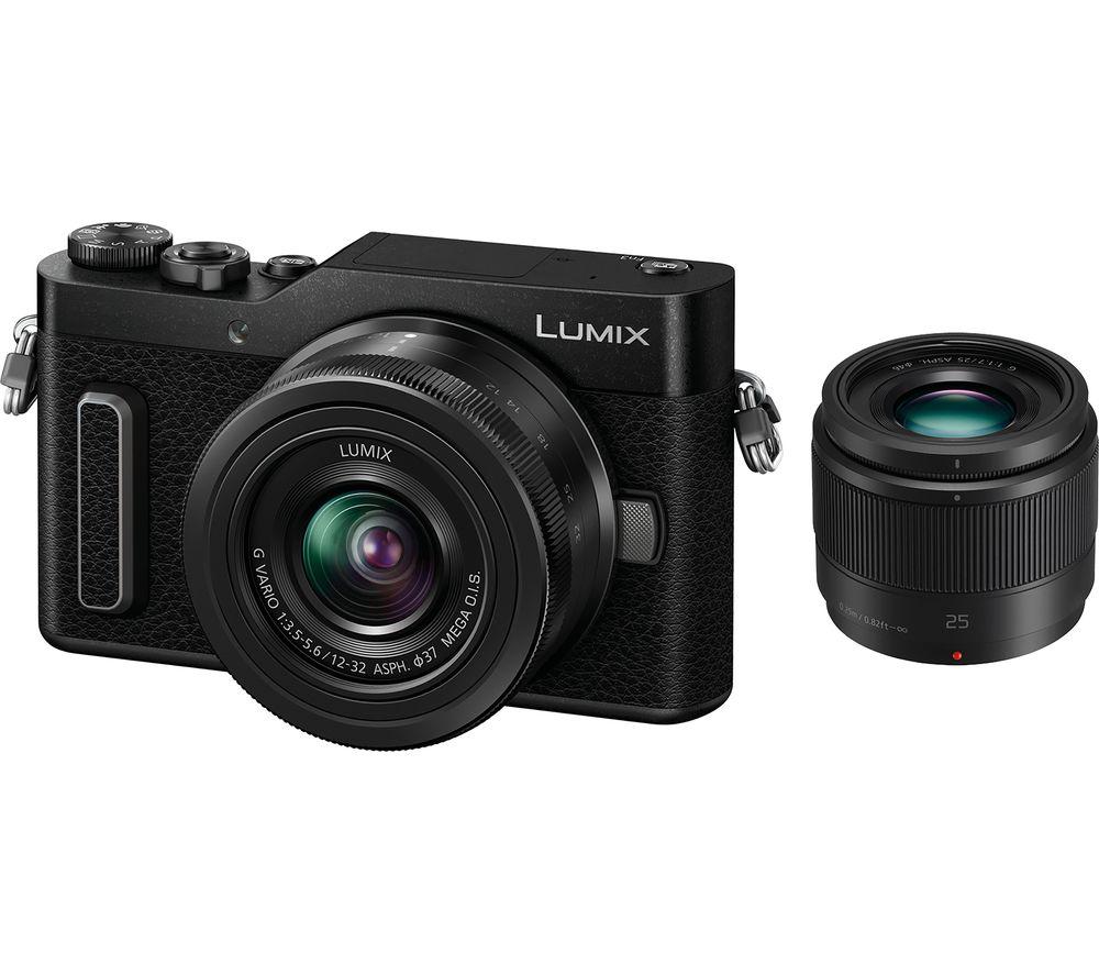 PANASONIC Lumix DC-GX880 Mirrorless Camera with G Vario 12-32 mm f/3.5-5.6 Asph. Mega O.I.S. & 25 mm f/1.7 Asph. Lens - Black