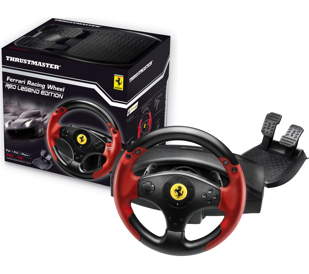 THRUSTMASTER Red Legend Ferrari Racing Wheel & Pedals - Red & Black, Red