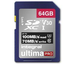 V30 Class 10 SD Memory Card - 64 GB