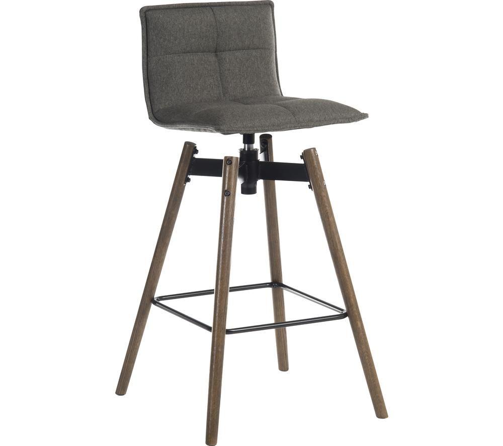 TEKNIK 6977GREY-DK Spin Bar Stool Chair - Grey, Grey