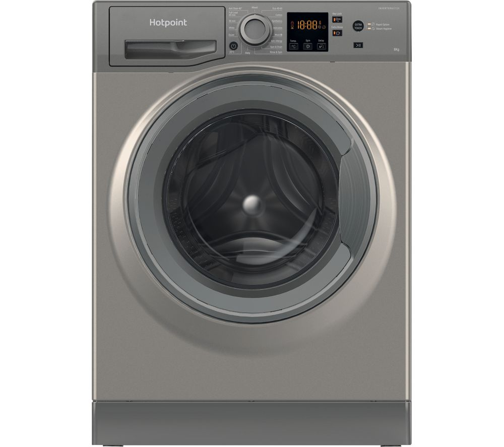 HOTPOINT Core NSWR 843C GK UK 8 kg 1400 Spin Washing Machine - Graphite