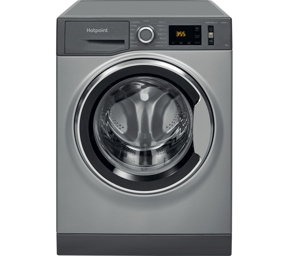 HOTPOINT NM11 844 GC A UK N 8 kg 1400 Spin Washing Machine – Graphite