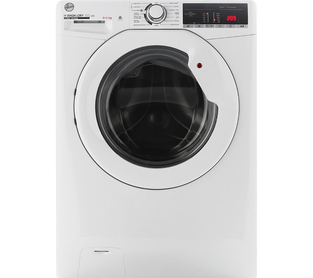 HOOVER H-Wash 300 H3D 485TE NFC 8 kg Washer Dryer - White, White