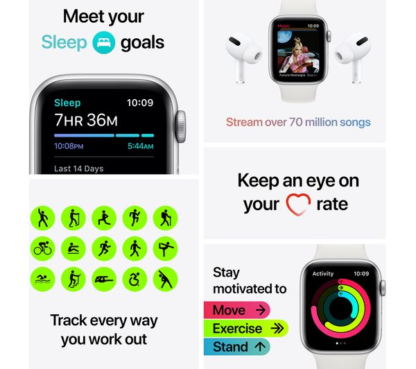 Apple Watch SE - Space Grey Aluminium with Anthracite & Black Nike Sports Band, 40 mm 2