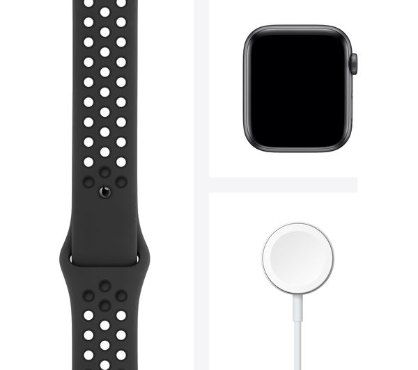 Apple Watch SE - Space Grey Aluminium with Anthracite & Black Nike Sports Band, 40 mm 3