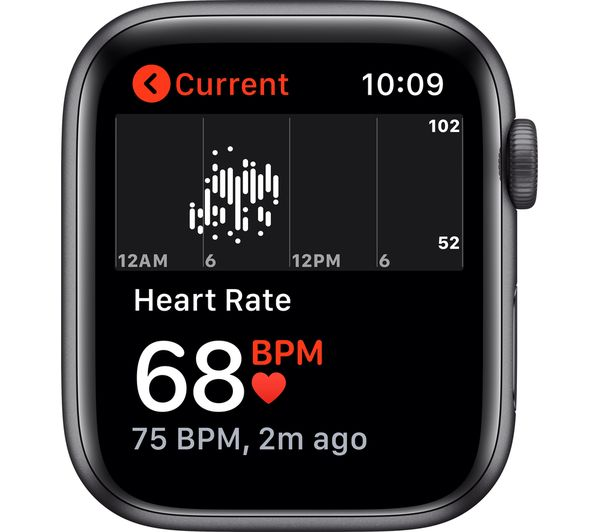 Apple Watch SE - Space Grey Aluminium with Anthracite & Black Nike Sports Band, 40 mm 6