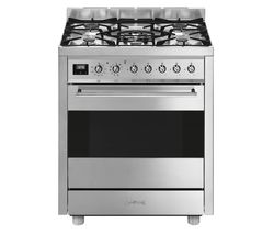 Symphony C7GPX9 70 cm Dual Fuel Cooker - Stainless Steel