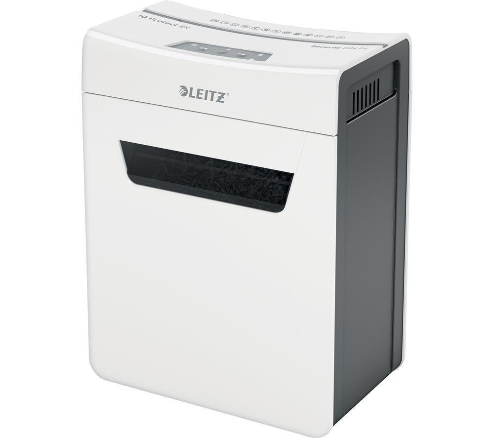LEITZ IQ Protect 8X Cross Cut Paper Shredder