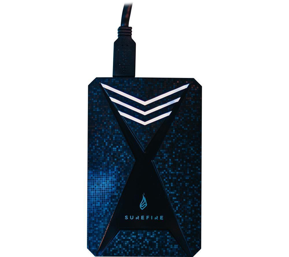 SUREFIRE GX3 Gaming Portable Hard Drive - 1 TB, Black