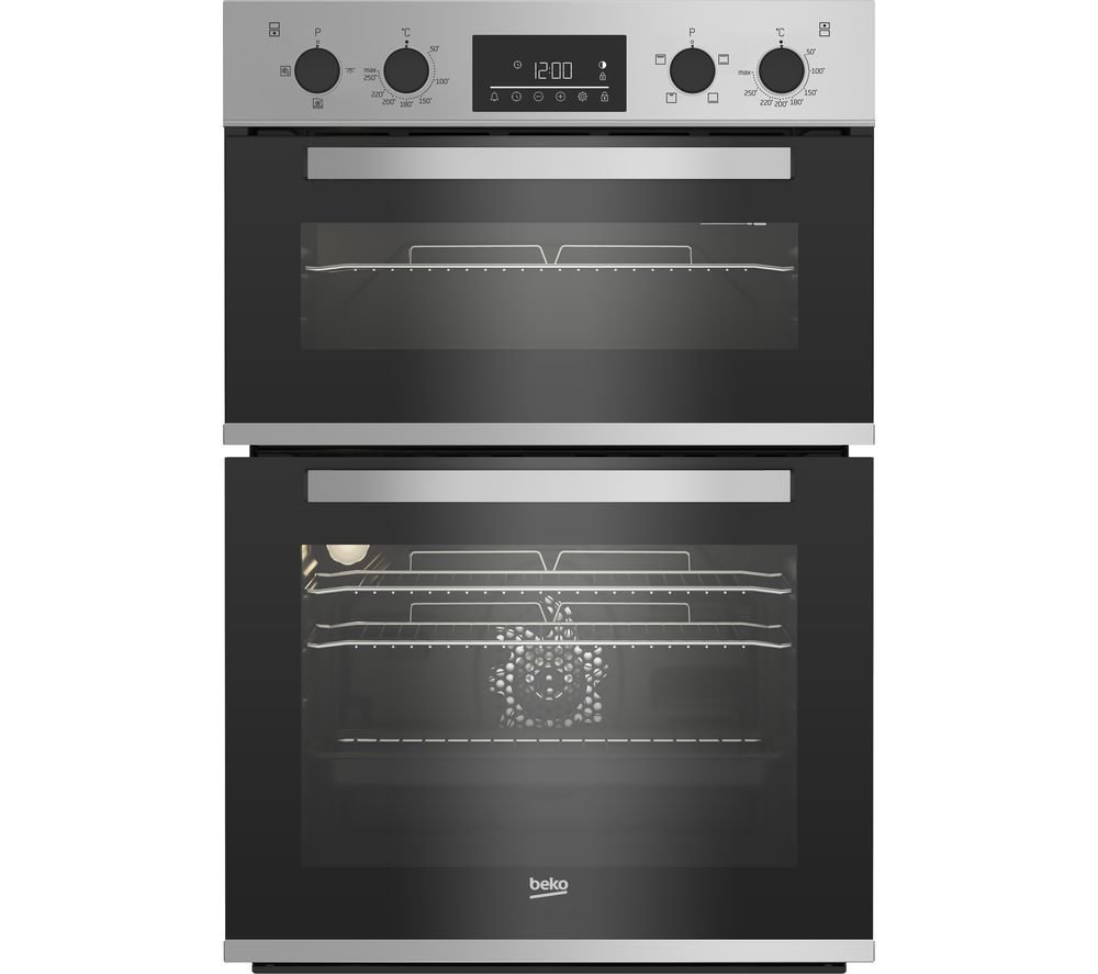 BEKO Pro RecycledNet BBXDF22300S Electric Double Oven - Silver