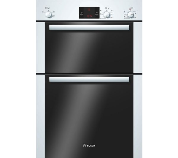 BOSCH Avantixx HBM13B221B Electric Built-in Double Oven - White (text duplicated)