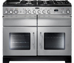 RANGEMASTER Excel 110 Dual Fuel Range Cooker - Stainless Steel & Chrome