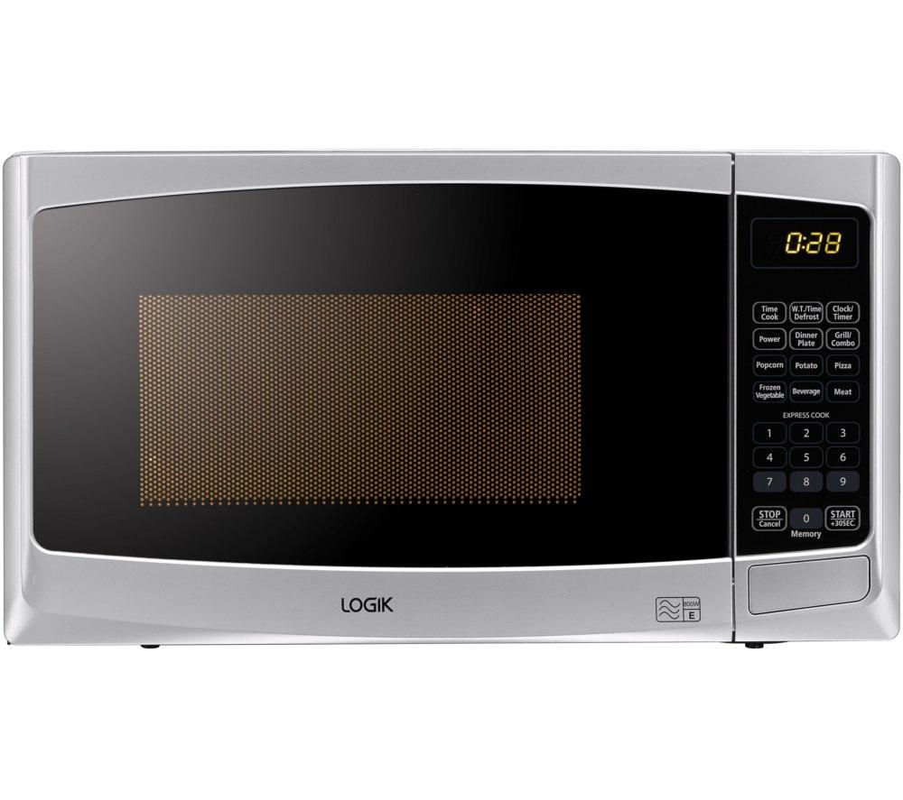 LOGIK L20GS14 Microwave with Grill - Silver + M-Cuisine Microwave Rice Cooker - Stone & Orange