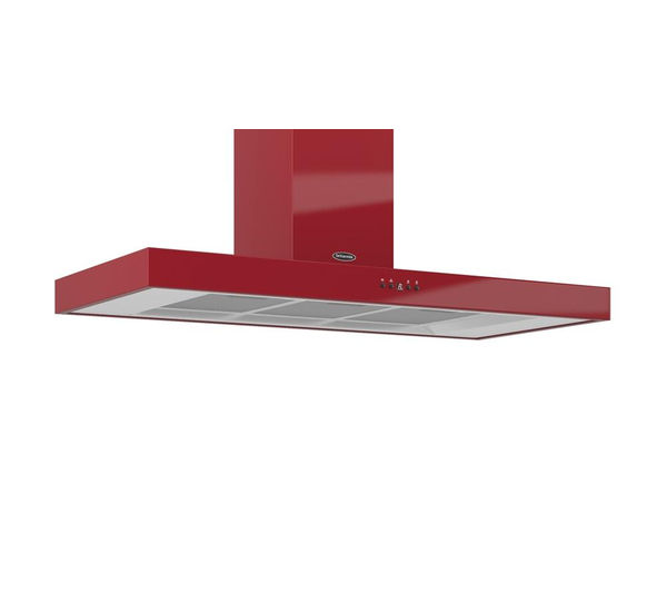 BRITANNIA Arioso K7088A11R Chimney Cooker Hood - Gloss Red, Red
