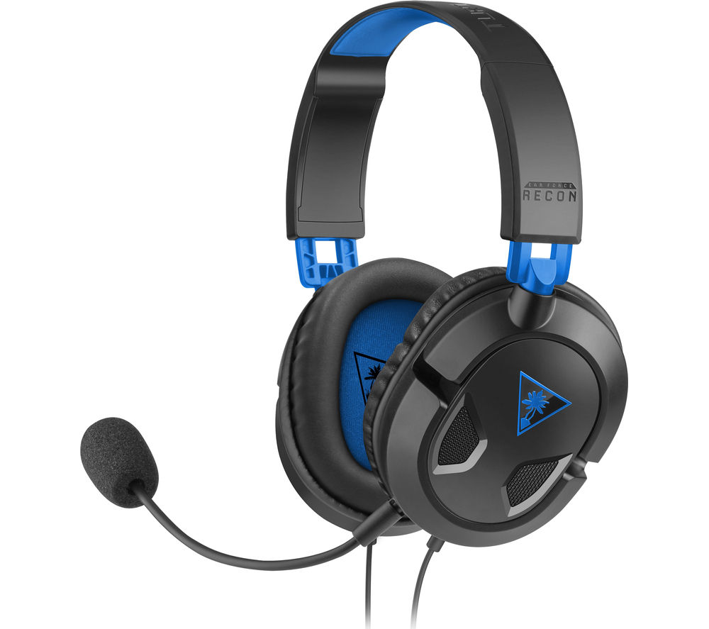 TURTLE BEACH Earforce Recon 50p Gaming Headset - Black & Blue