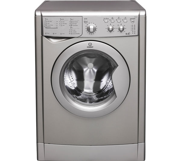 buy indesit ecotime iwdc 6125s washer dryer silver free delivery currys. Black Bedroom Furniture Sets. Home Design Ideas