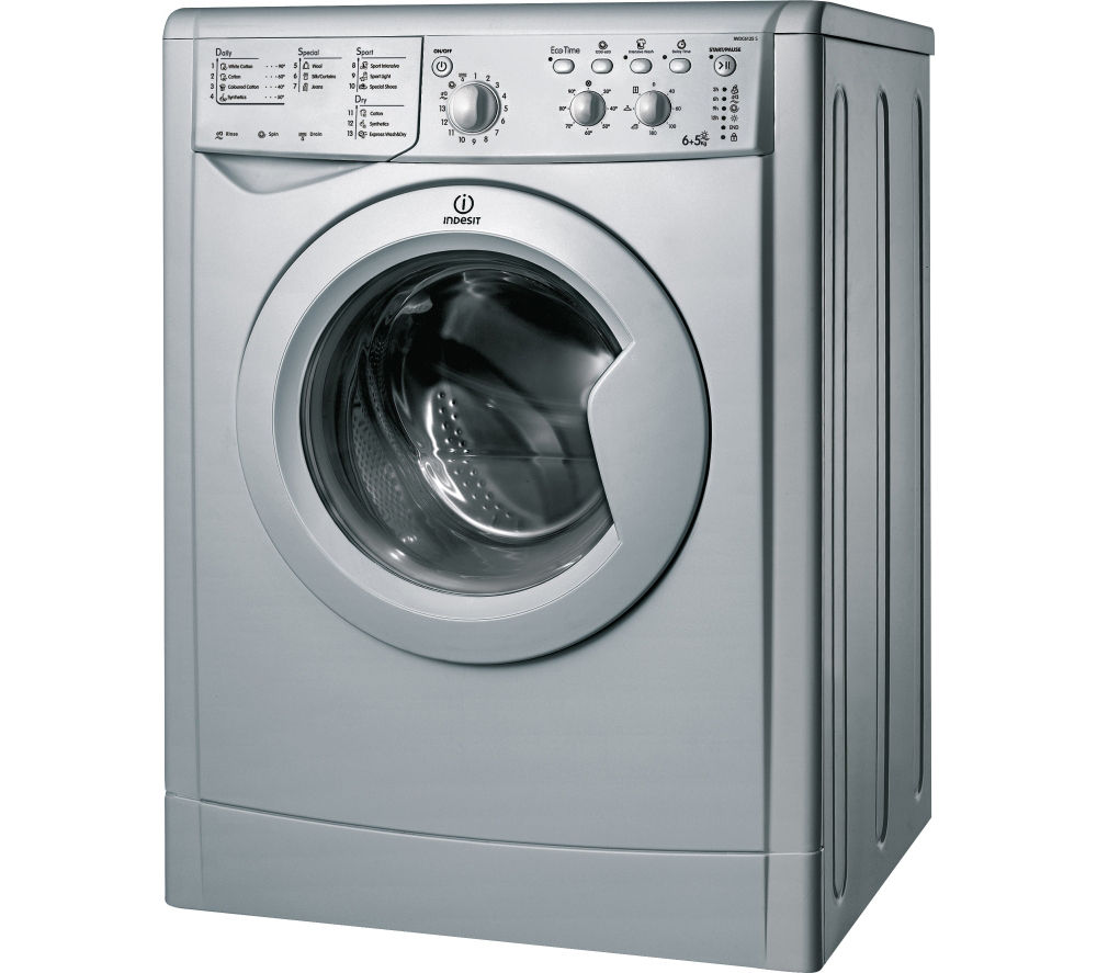 indesit iwdc 6125s washer dryer silver silver bluewater. Black Bedroom Furniture Sets. Home Design Ideas