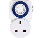 MASTERPLUG 24 Hour Timer Plug Adapter