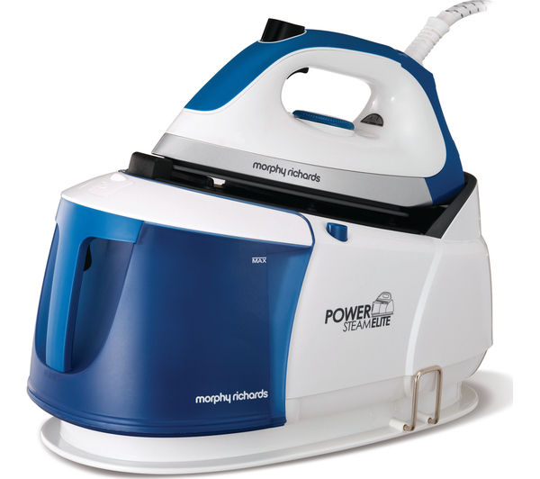 Image of MORPHY RICHARDS Power Steam Elite 332010 Steam Generator Iron - White & Blue
