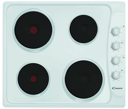 PLE64W Electric Solid Plate Hob - White