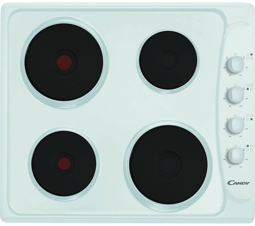 Compare prices for Candy PLE64W Electric Solid Plate Hob