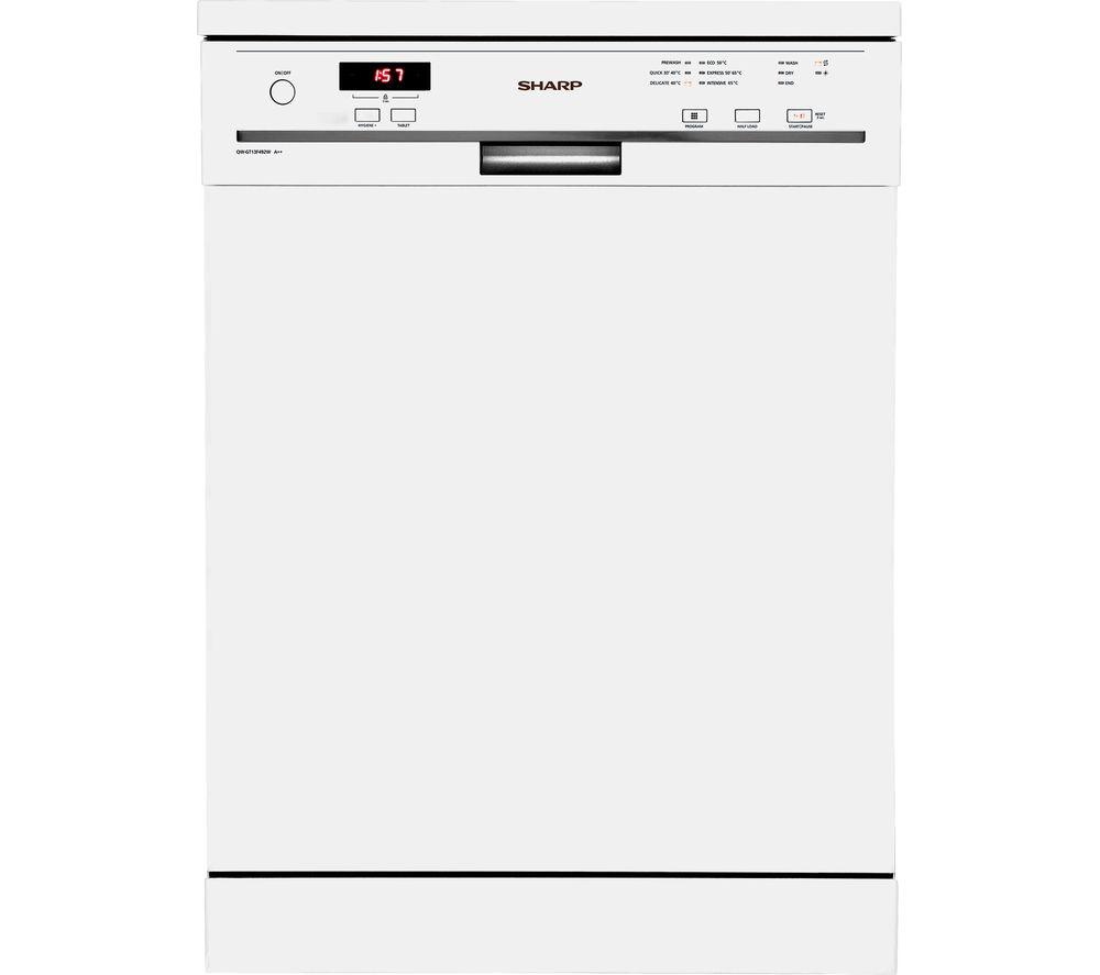 SHARP QW-GT13F492W Full-size Dishwasher - White