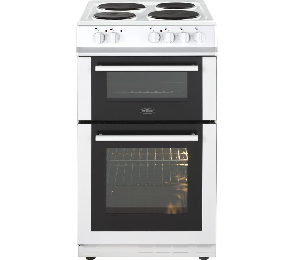 buy belling fs50et 50 cm electric solid plate cooker white free delivery currys. Black Bedroom Furniture Sets. Home Design Ideas