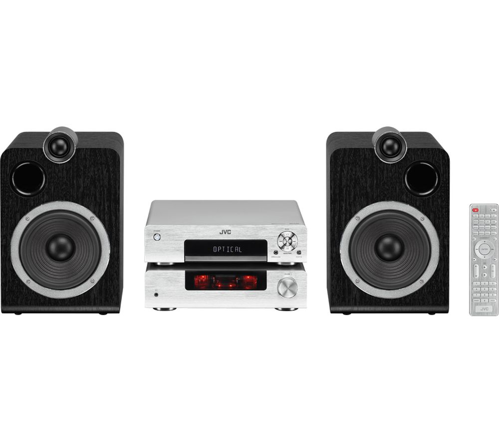 JVC UX-D457S Wireless Traditional Hi-Fi System - Silver