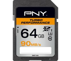 PNY Turbo Performance Class 10 SDXC Memory Card - 64 GB