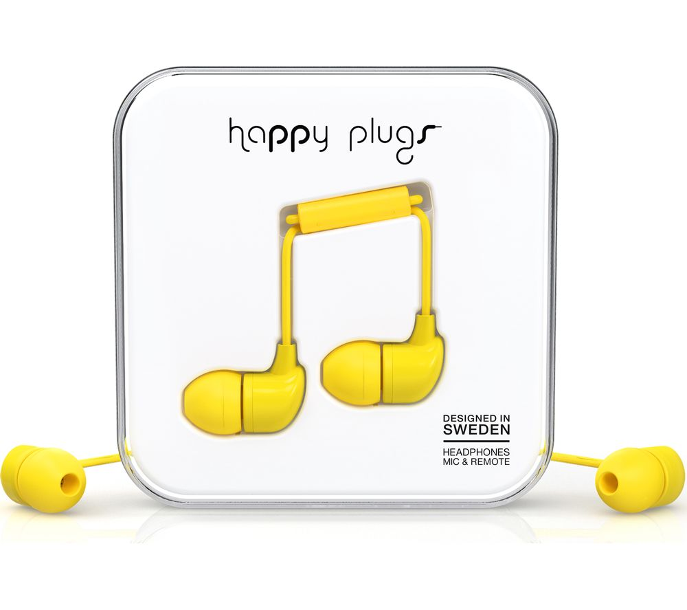 HAPPY PLUGS HP7721 Headphones - Yellow