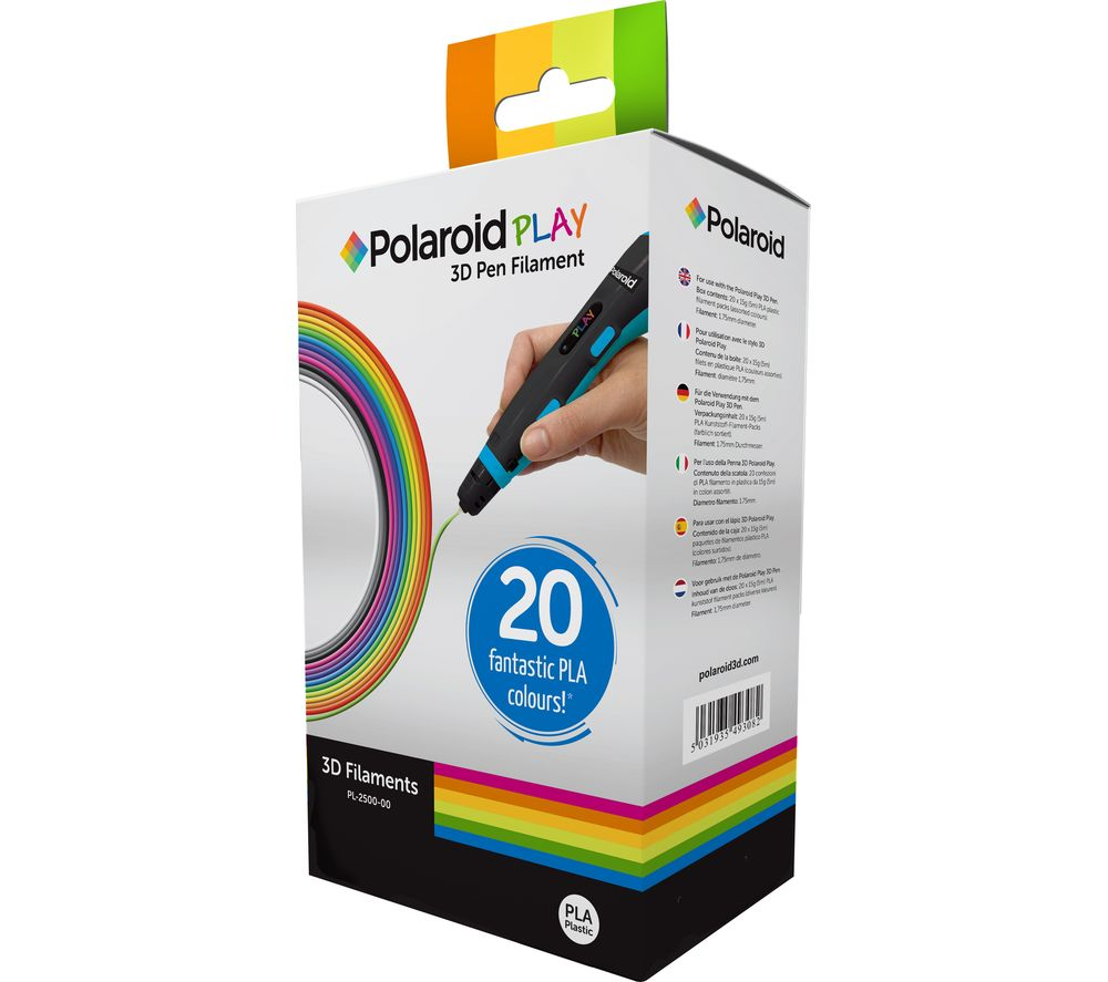 Compare retail prices of Polaroid Play 3D Filament Pack of 20 to get the best deal online
