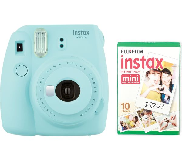 buy instax mini 9 instant camera - ice blue | free delivery | currys