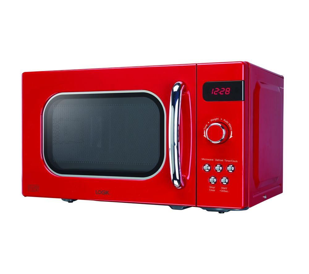 Image of LOGIK L20MR17 Solo Microwave - Red, Red