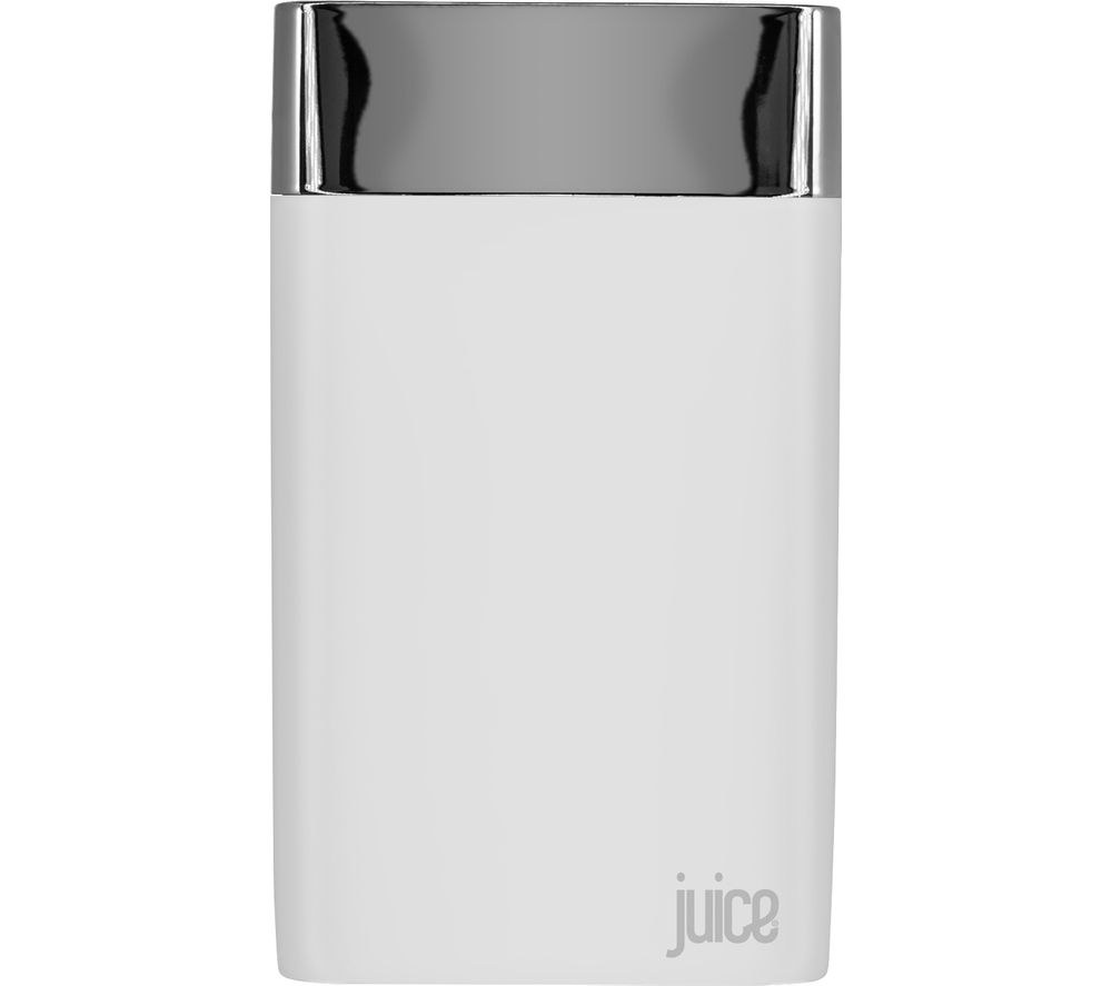 JUICE Long Weekender Portable Power Bank - White