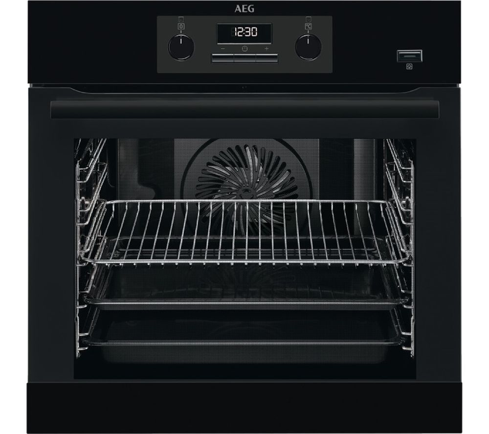 AEG BEB351010B Electric Steam Oven - Black, Black