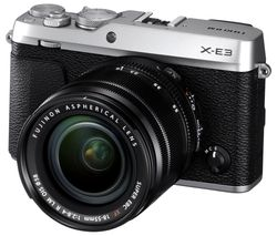 FUJIFILM X-E3 Mirrorless Camera with XF 18-55 mm f/2.8-4 R LM IOS Lens - Silver