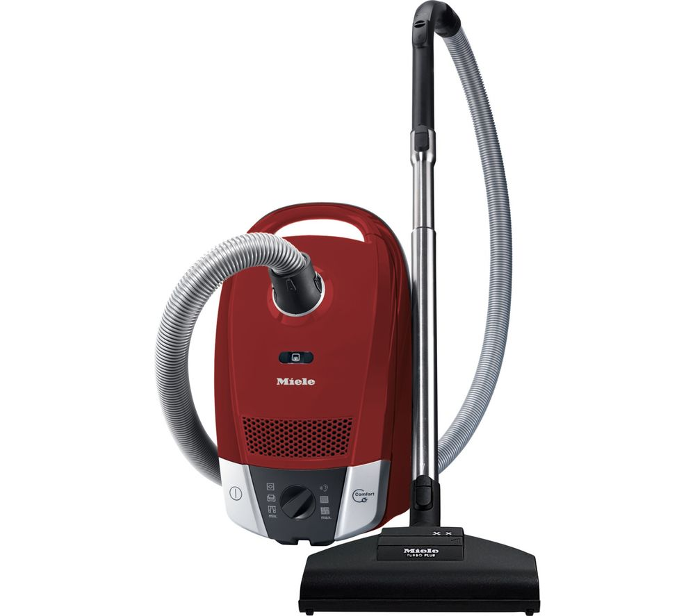 buy miele compact c2 cat dog powerline cylinder vacuum cleaner red free delivery currys. Black Bedroom Furniture Sets. Home Design Ideas