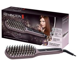 REMINGTON CB7401 Keratin Radiance Sleek and Smooth Ceramic Straightening Brush - Purple