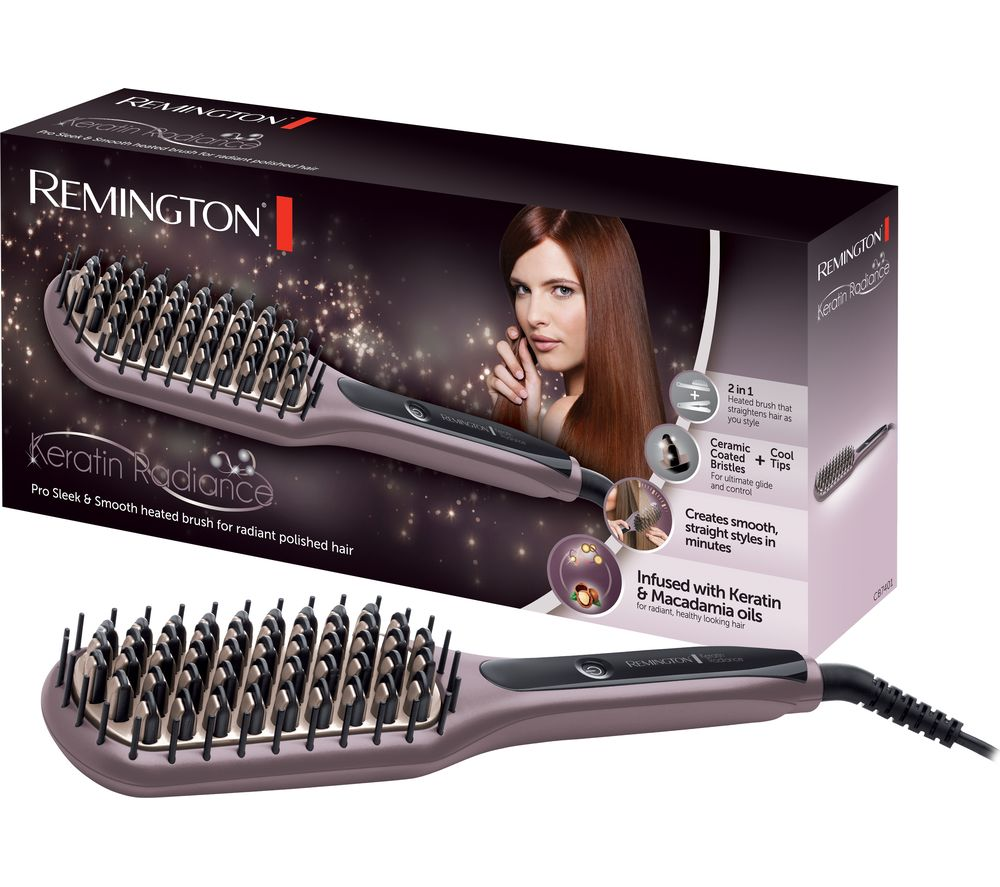 Compare retail prices of Remington CB7401 Keratin Radiance Sleek and Smooth Ceramic Straightening Brush to get the best deal online