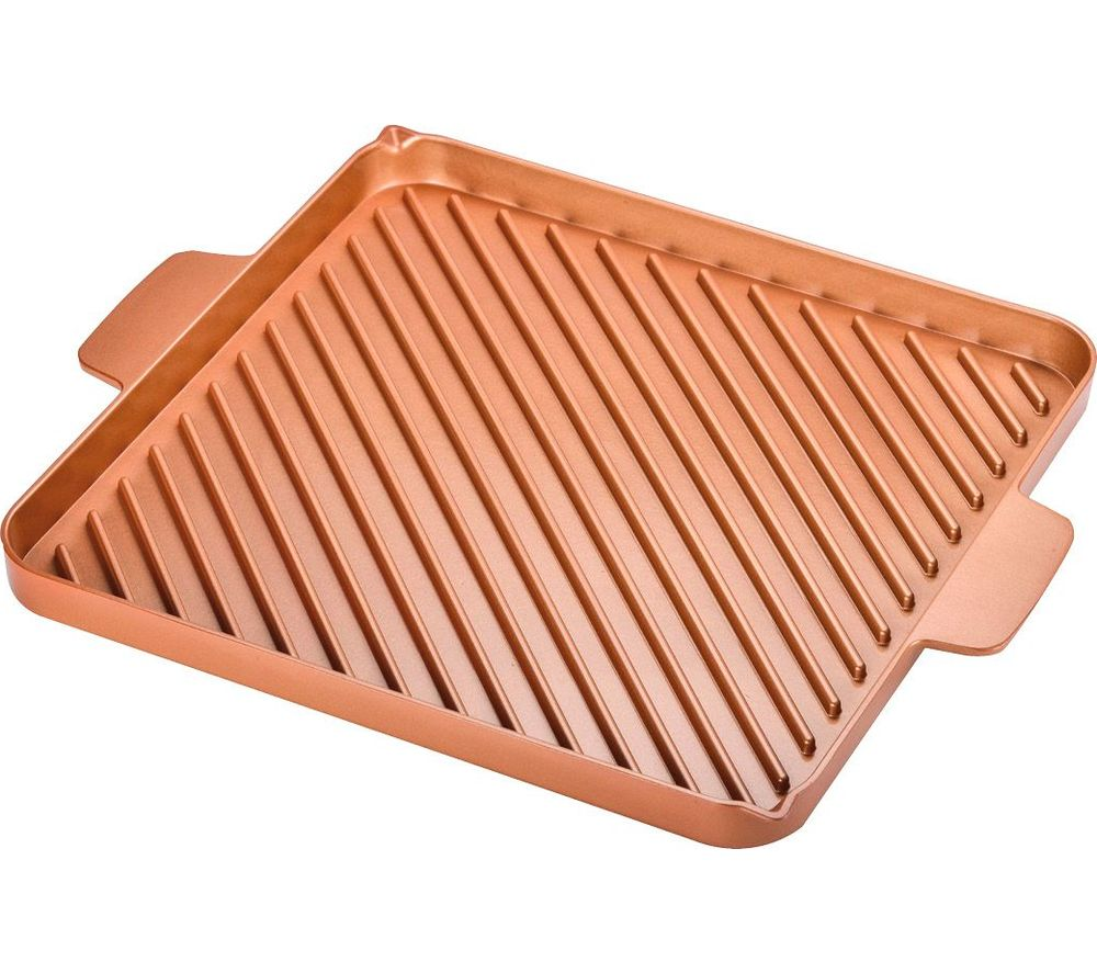 Compare prices for High Street TV Copper Chef 30 cm Non-stick Grill and Griddle Pan