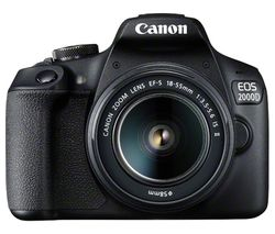 EOS 2000D DSLR Camera with EF-S 18-55 mm f/3.5-5.6 IS II Lens