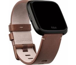 FITBIT Versa Leather Band - Cognac, Large