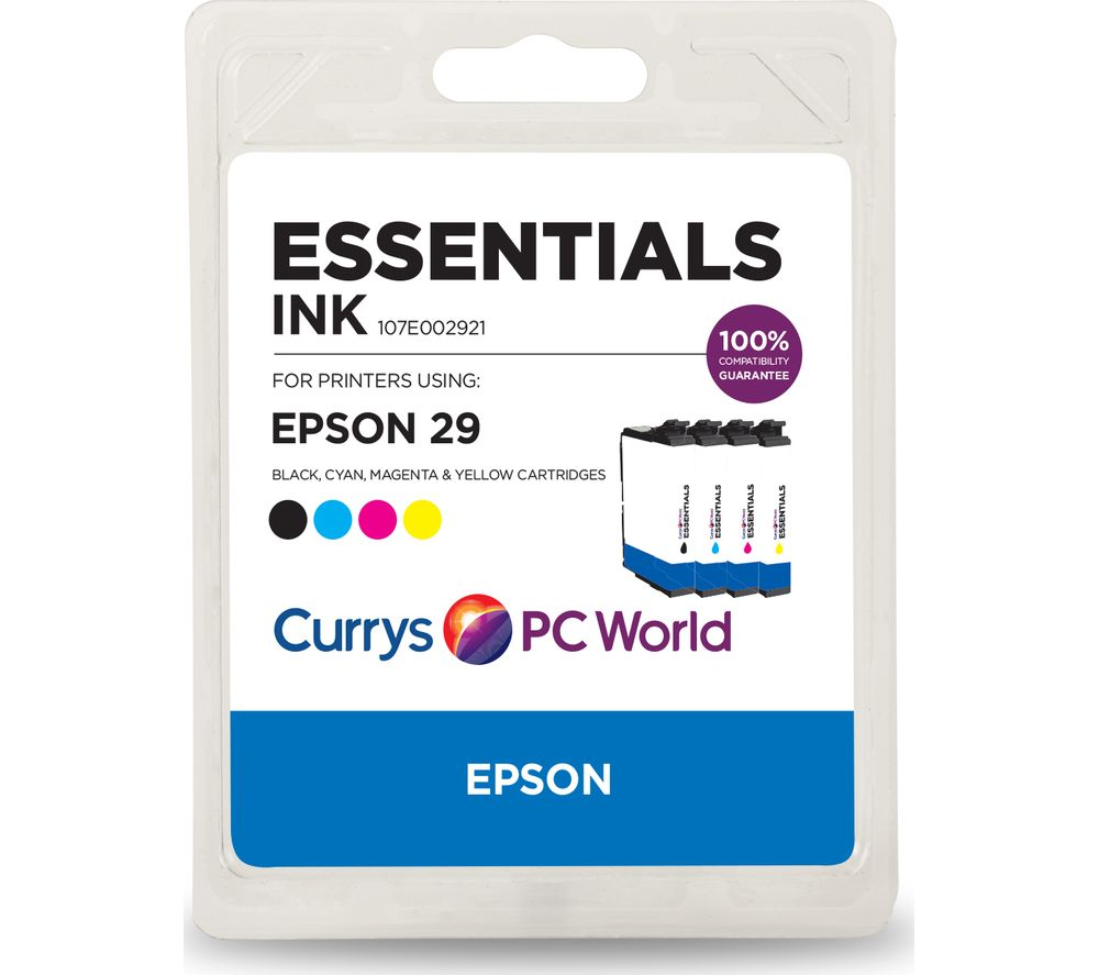ESSENTIALS Epson 29 Cyan, Magenta, Yellow & Black Ink Cartridges