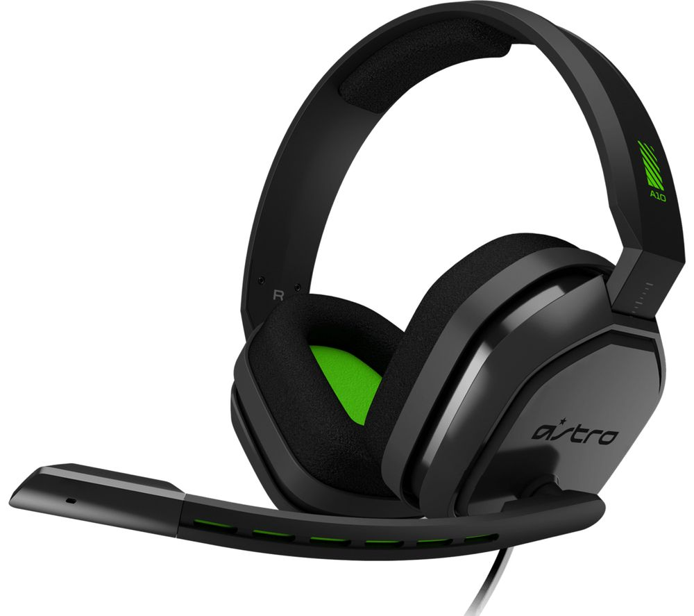 Image of ASTRO A10 Gaming Headset - Grey & Green, Grey